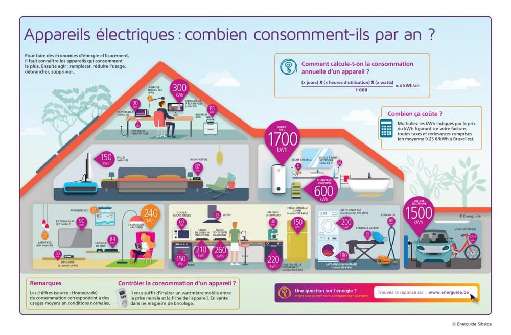 Combien les appareils électroménagers consomment-ils ?